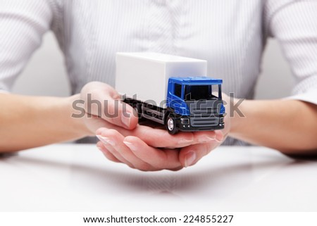 Protection of truck (concept) - stock photo