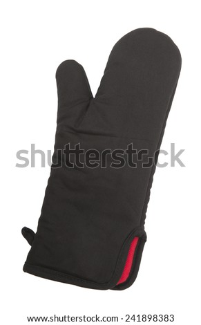 Protective Oven Glove isolated on white background - stock photo