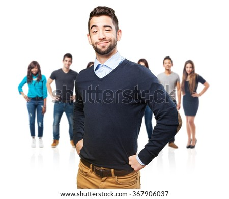 proud cool man - stock photo