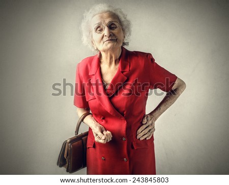 Proud grandma  - stock photo