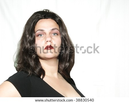 Proud woman - stock photo