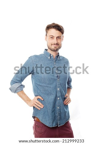 proud young cool man - stock photo