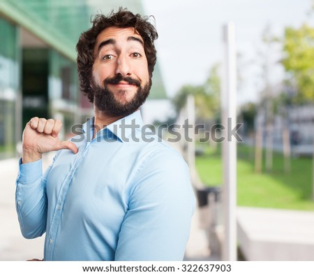 proud young man confident pose - stock photo