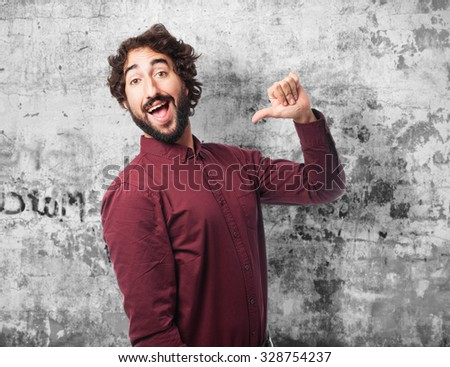 proud young man smiling - stock photo