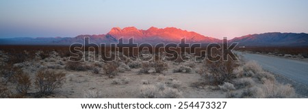 Providence Mountains Fountain Peak Mojave Desert Landscape - stock photo