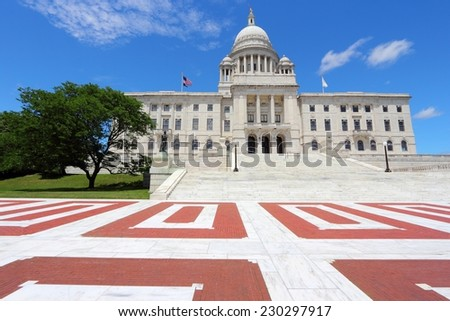 Providence, Rhode Island. City in New England region of the US. State capitol building. - stock photo