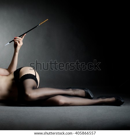 Provocative detail of a woman body - stock photo