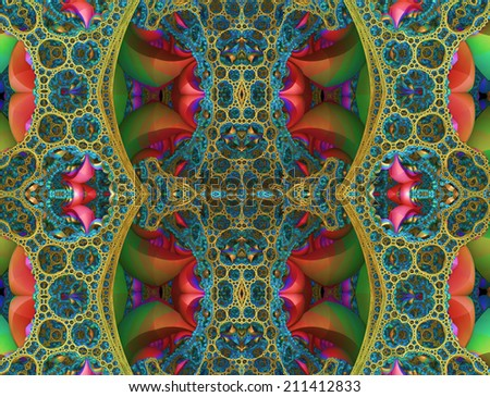 psychedelic art for background - stock photo