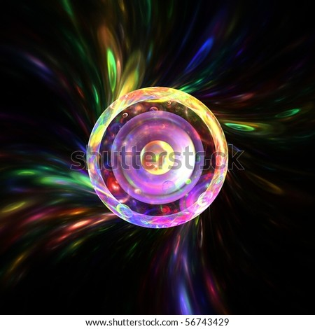 Psychedelic rainbow rings - stock photo