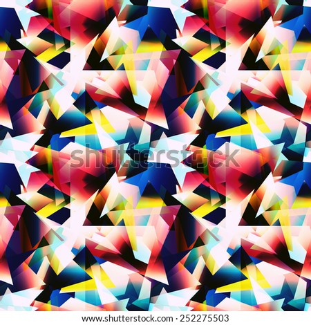 psychedelic seamless pattern - stock photo