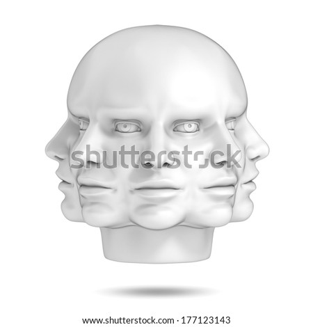 psychology, abstract human head 3d concept - stock photo
