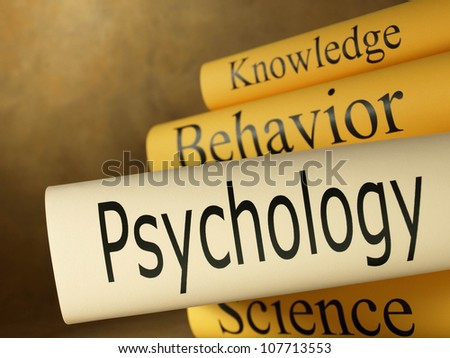 Psychology (book titles) - stock photo