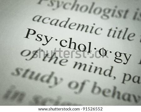 Psychology: Definition - stock photo