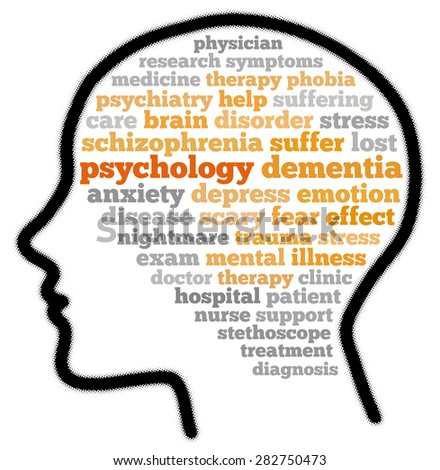 Psychology in word cloud concept - stock photo