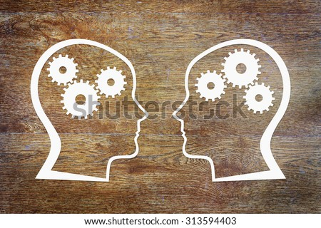 Psychology of the human consciousness. Abstract conceptual image - stock photo