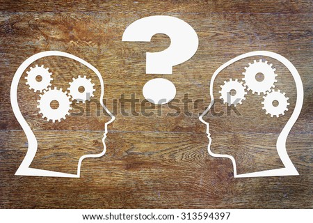 Psychology of the human thinking. Abstract conceptual image - stock photo