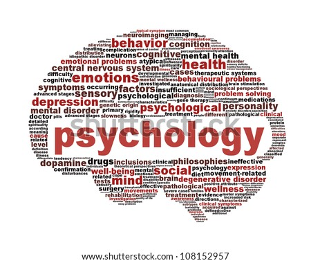 Psychology symbol isolated on white. Mental health sign conceptual design - stock photo