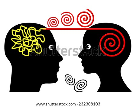 Psychotherapy Session. Psychotherapist treating patient with mental disorder - stock photo