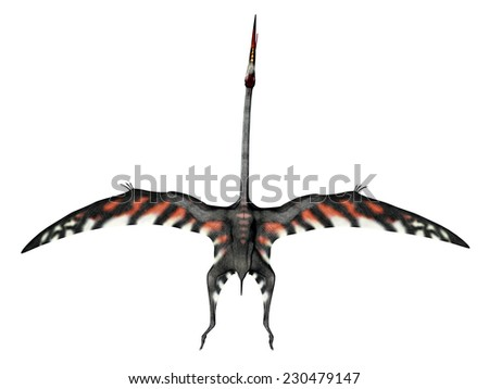 Pterosaur Quetzalcoatlus isolated on white background Computer generated 3D illustration - stock photo