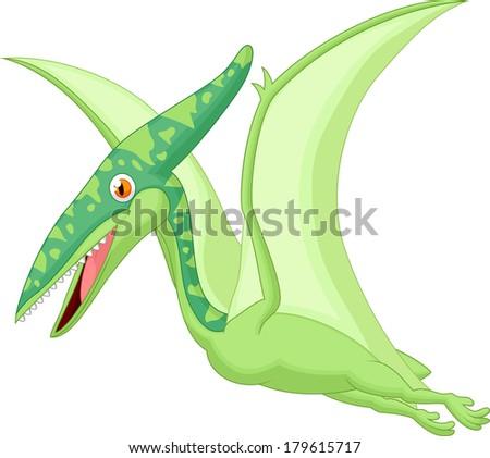Pterosaurus cartoon - stock photo