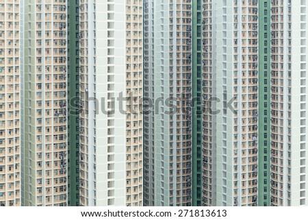 Public apartment building - stock photo