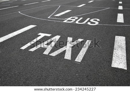 Public conveyance marking - stock photo