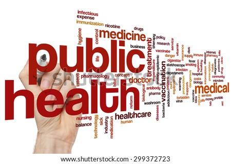 Public health word cloud concept - stock photo