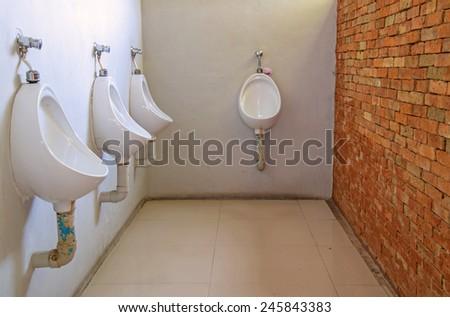 public men toilet room - stock photo