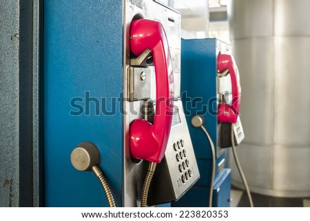 public phones - stock photo