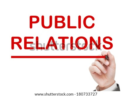 Public Relations concept - stock photo