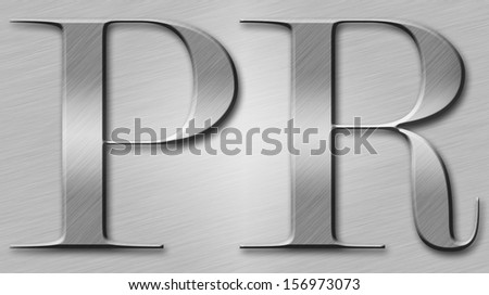 Public relations inscription illuminated with diagonal striped light - stock photo