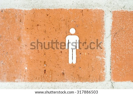 Public Restroom For Man Sign - stock photo
