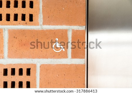 Public Restroom For Special Disabled People Sign - stock photo