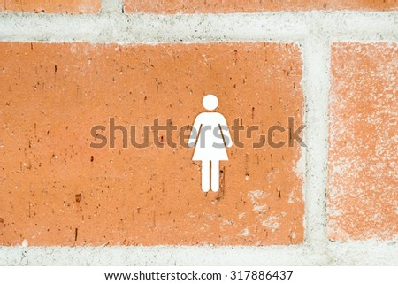 Public Restroom For Woman Sign - stock photo