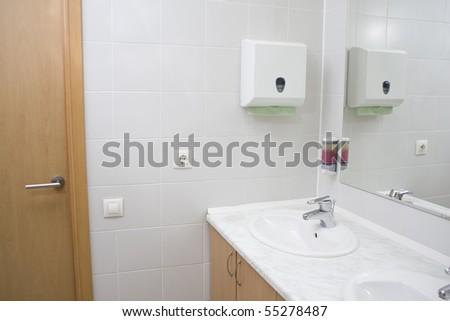 Public toilet - stock photo
