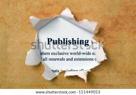 Publishing text on paperhole - stock photo