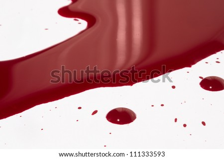 Puddle of blood - stock photo