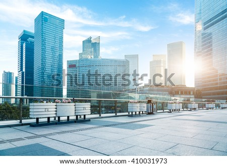 pudong district,shanghai china. - stock photo