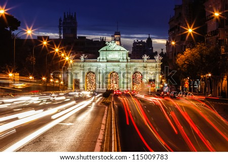 Puerta de Alcala, Madrid, Spain - stock photo