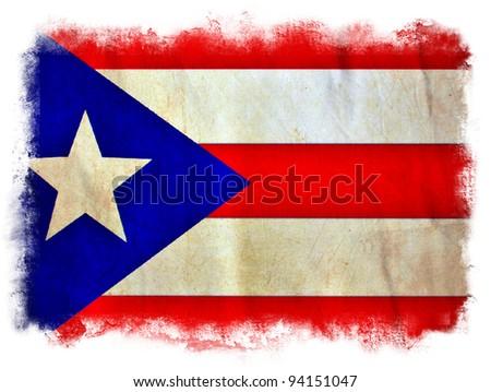 Puerto Rico grunge flag - stock photo