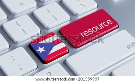 Puerto Rico High Resolution Resource Concept - stock photo