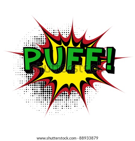 Puff. Comic book explosion. Vector version available in my gallery. - stock photo