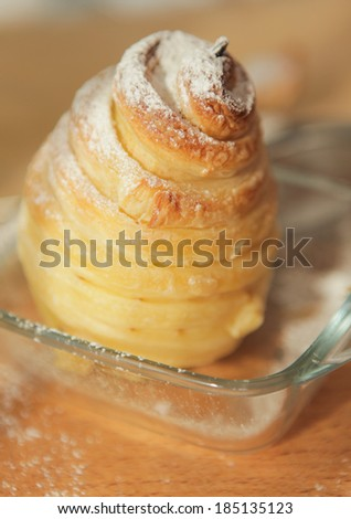 puff pastry - stock photo