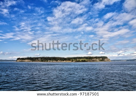 Puget Sound landscape - stock photo
