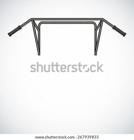 Pull-up bar - stock photo