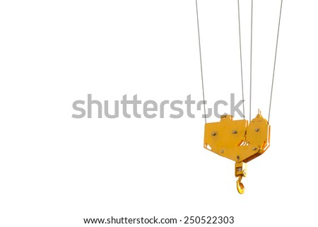 pulley of tower crane - stock photo