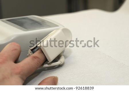 Pulse measured - stock photo