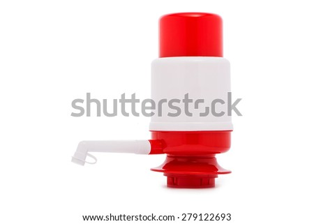 Pump for water dispenser isolated on the white - stock photo