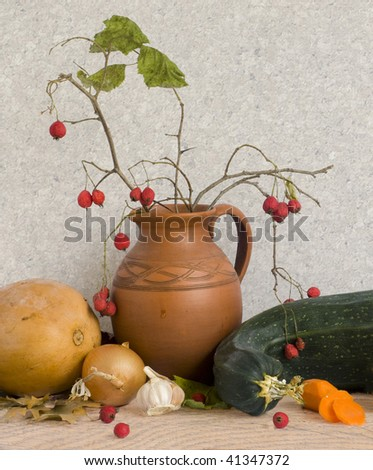 pumpkin and marrow - stock photo