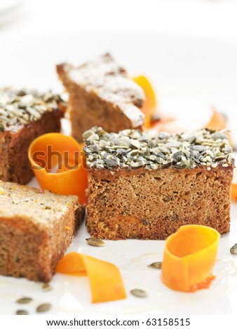 Pumpkin Cake For Halloween - stock photo